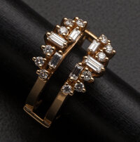 Diamond Gold Ring Guard Set With An Appraisal