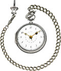 Timepieces:Pocket (pre 1900), Jacques Chiotty French Silver Calendar Verge Fusee, circa 1810. ...