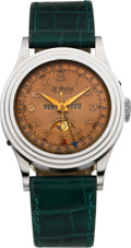 Timepieces:Wristwatch, LePhare Steel Triple Calendar Moon Phase. ...