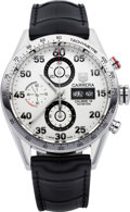 Timepieces:Wristwatch, Tag Heuer Carrera Choice Calibre 16 Steel Chronograph. ...