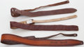 Musical Instruments:Acoustic Guitars, Lot of 3 Embossed Leather Guitar Straps. ...