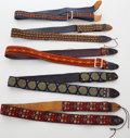 Musical Instruments:Miscellaneous, 1960s-1970s Vintage Ace Guitar Strap Lot of 5. ...