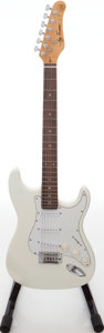 Musical Instruments:Electric Guitars, 2000s Jay Turser Strat Copy White Solid Body Electric Guitar....