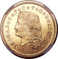 Proof Four Dollar Gold Pieces, 1879 $4 Flowing Hair, Judd-1635, Pollock-1833, R.3, PR66 Cameo NGC....