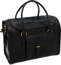 Luxury Accessories:Travel/Trunks, Ralph Lauren Shiny Black Crocodile Dog Carrier Bag. ...