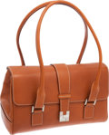 Luxury Accessories:Bags, Lambertson Truex Saddle Leather Medium Classic Shoulder Bag. ...