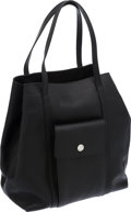 Luxury Accessories:Bags, Lambertson Truex Black Leather Shopper Tote Bag. ...
