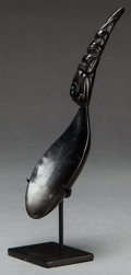 American Indian Art:Pipes, Tools, and Weapons, A NORTHWEST COAST CARVED GOAT HORN SPOON. c. 1890... (Total: 2 )