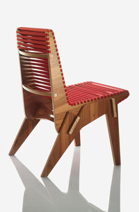 ABBOTT MILLER (American, 20th Century) Bolivian Plywood Chair in Red, 2010 Benefitting The Nature