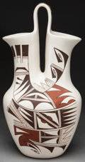 American Indian Art:Pottery, A HOPI POLYCHROME WEDDING VASE . ...