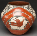 American Indian Art:Pottery, A ZIA POLYCHROME JAR. c. 1980...