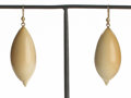 Estate Jewelry:Earrings, Ted Muehling (American, 20th Century). Vegetable Ivory ShellEarrings , 2010. Benefitting The Nature Conservancy: ...