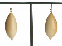 Ted Muehling (American, 20th Century) Vegetable Ivory Shell Earrings , 2010 Benefitting The Natur