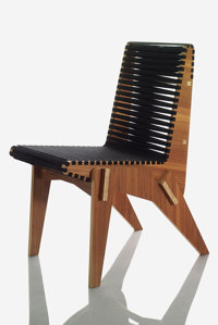 Abbott Miller (American, 20th Century) Bolivian Plywood Chair Black, 2010 Benefitting The Nature