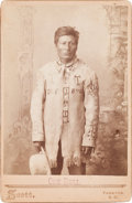 American Indian Art:Photographs, ONE BULL, SIOUX, CABINET CARD BY GEORGE SCOTT, YANKTON, S. D....