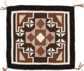 American Indian Art:Weavings, A SMALL NAVAJO WEAVING. Two Gray Hills...