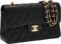 Luxury Accessories:Bags, Chanel Black Caviar Leather Small Double Flap Bag with GoldHardware. ...