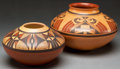 American Indian Art:Pottery, TWO HOPI POLYCHROME JARS. Steve Lucas and Loren Ami. c. 2005...(Total: 2 Items)