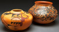 American Indian Art:Pottery, TWO HOPI POLYCHROME JARS. Dorothy Ami and Karen Abieta. c. 2001 and2004... (Total: 2 Items)