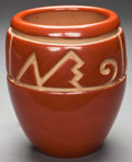 American Indian Art:Pottery, A SANTA CLARA CARVED REDWARE JAR. Margaret Tafoya. c. 1970...