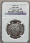 Barber Half Dollars: , 1896-S 50C -- Improperly Cleaned -- NGC Details. AU. NGC Census:(0/51). PCGS Population (3/80). Mintage: 1,140,948. Numism...