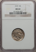Buffalo Nickels: , 1919 5C MS64 NGC. NGC Census: (443/232). PCGS Population (631/529).Mintage: 60,868,000. Numismedia Wsl. Price for problem ...