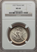 Commemorative Silver: , 1937 50C Texas MS66 NGC. NGC Census: (355/75). PCGS Population(353/87). Mintage: 6,571. Numismedia Wsl. Price for problem ...