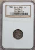 Seated Dimes: , 1856 10C Small Date AU58 NGC. NGC Census: (24/132). PCGS Population(13/91). Mintage: 5,780,000. Numismedia Wsl. Price for ...