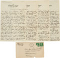 Basketball Collectibles:Photos, 1917 James Naismith Handwritten Signed Letter with SignedEnvelope....