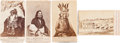 American Indian Art:Photographs, MINNESOTA SIOUX UPRISING OF 1862 AND OTHERS, LOT OF FOURCARTE-DE-VISITE PHOTOS BY JOEL E. WHITNEY AND CHARLES A. ZIMMERMAN,S... (Total: 4 Items)