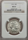 Barber Half Dollars: , 1912 50C MS63 NGC. NGC Census: (70/86). PCGS Population (89/109).Mintage: 1,550,700. Numismedia Wsl. Price for problem fre...