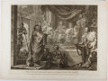 Books:Prints & Leaves, William Hogarth. Engraved Print Entitled, And as he reasoned ofrighteousness, temperance, and Judgment to come, Felix t...