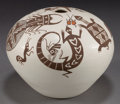 American Indian Art:Pottery, AN ACOMA POLYCHROME SEED JAR . Barbara and Joseph Cerno...