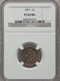 Proof Indian Cents: , 1897 1C PR63 Brown NGC. NGC Census: (28/108). PCGS Population(8/63). Mintage: 1,938. Numismedia Wsl. Price for problem fre...