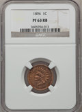 Proof Indian Cents: , 1896 1C PR63 Red and Brown NGC. NGC Census: (26/192). PCGSPopulation (31/115). Mintage: 1,862. Numismedia Wsl. Price for p...