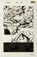 Original Comic Art:Panel Pages, David Finch and Danny Miki Avengers #500 Story Page 37Original Art (Marvel, 2004)....