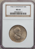 Commemorative Silver: , 1936-S 50C Cincinnati MS64 NGC. NGC Census: (502/197). PCGSPopulation (710/302). Mintage: 5,006. Numismedia Wsl. Price for...