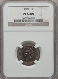 Proof Indian Cents: , 1906 1C PR64 Brown NGC. NGC Census: (40/18). PCGS Population(11/10). Mintage: 1,725. Numismedia Wsl. Price for problem fre...