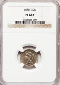 Proof Three Cent Nickels: , 1886 3CN PR64+ NGC. NGC Census: (259/593). PCGS Population(369/631). Mintage: 4,290. Numismedia Wsl. Price for problem fre...