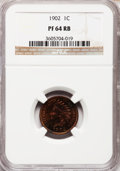 Proof Indian Cents: , 1902 1C PR64 Red and Brown NGC. NGC Census: (128/150). PCGSPopulation (105/87). Mintage: 2,018. Numismedia Wsl. Price for ...
