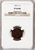 Proof Indian Cents: , 1893 1C PR64 Red and Brown NGC. NGC Census: (124/92). PCGSPopulation (115/28). Mintage: 2,195. Numismedia Wsl. Price for p...