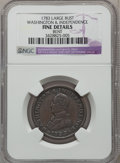 Colonials: , 1783 1C Washington & Independence Cent, Large Military Bust --Bent -- NGC Details. Fine. NGC Census: (0/82). PCGS Populati...