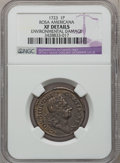 Colonials, 1723 PENNY Rosa Americana Penny -- Environmental Damage -- NGCDetails. XF. NGC Census: (2/17). PCGS Population (8/50). (...