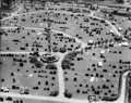 Photographs, BERENICE ABBOTT (American, 1898-1991). Cemetery, Aerial View,. Gelatin silver, printed later. 15-1/4 x 19-1/4 inches (38...