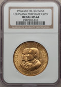 So-Called Dollars, 1904 Louisiana Purchase Exposition MS64 NGC. HK-302....