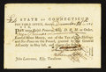 Colonial Notes:Connecticut, State of Connecticut Dec. 26, 1781 £4 Very Fine-Extremely Fine.....