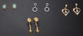 Estate Jewelry:Earrings, Four Pairs of Earrings. ... (Total: 4 Items)