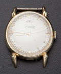 Timepieces:Wristwatch, LeCoultre 14k Gold Bumper Wind With Indicator Wristwatch. ...