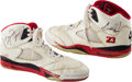 Basketball Collectibles:Others, 1990-91 Michael Jordan Game Worn, Signed Shoes. ...