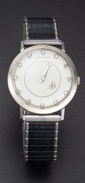 Timepieces:Watch Chains & Fobs, Longines 14k Gold Diamond Mystery Dial Wristwatch. ...